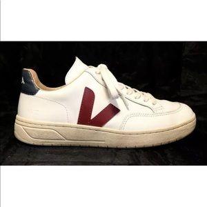 Veja V-12 Women's White Leather Training Sneakers